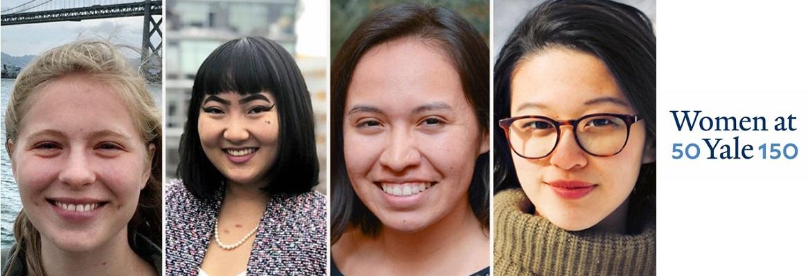 In a year when the university is celebrating the legacies of its women students as part of 50WomenAtYale150, this year's Yale winners of the prestigious Rhodes Scholarship who are from the United States  are women.